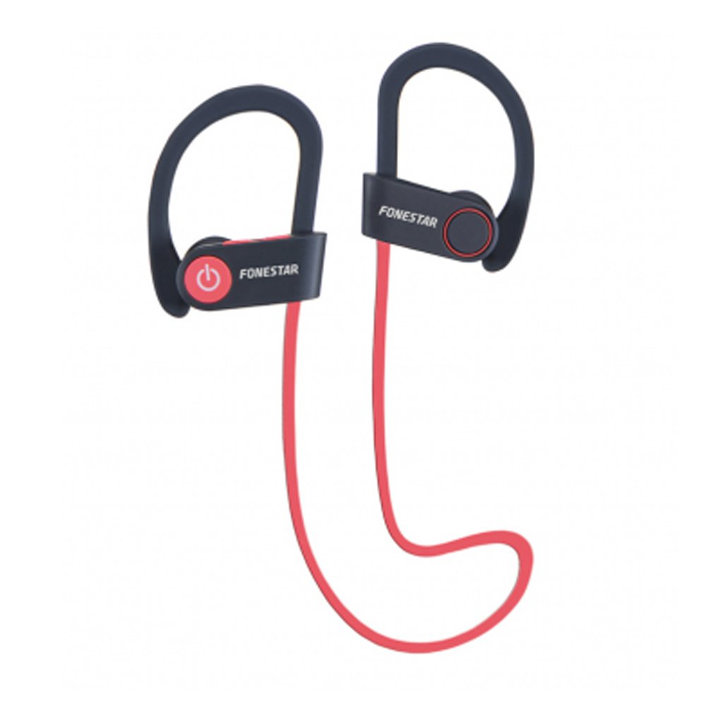 Auriculares Deportivos Bluetooth 4.1 Negro/Rojo Fonestar: Amazon ...