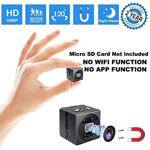 Cheap Mini Spy Hidden Camera – HD 1080P Portable Small Nanny Cam Surveillance Magnetic Security Camera with Night Vision/Motion Detection Perfect Indoor/Outdoor Surveillance Camera Home Car Office