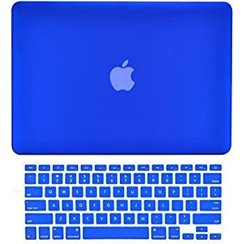 TOP CASE - Rubberized Hard Case Cover for 13-inch MacBook Pro with Retina Display A1425 and A1502 Bundle and Matching Color Keyboard Cover +TOP CASE Mouse Pad - ROYAL BLUE