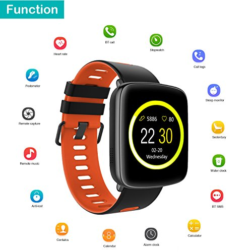 Smart Watch for iPhone & Android Phones,Willful SW018 Smartwatch Fitness Tracker Heart Rate Monitor Watch,Sleep Monitor Pedometer Watch for Men Women ...