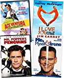 Jim Carrey Movies DVD 6-Film Collection - Ace Ventura: Pet Detective/ Pet Detective JR/ When Nature Calls/ I Love You Phillip Morris/ Mr. Popper's Penguins/ Me, Myself & Irene