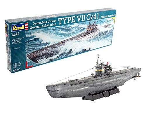 Revell of Germany U-Boat Typ VIIC/41 Plastic Model, used for sale  Delivered anywhere in USA