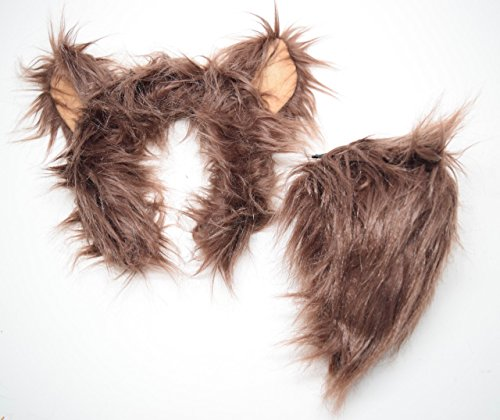Wildlife Tree Plush Grizzly Bear Ears Headband and Tail Set for Grizzly Bear Costume, Cosplay or Forest Animal (Grover Costumes For Adults)