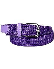 MYB Cinturón elástico trenzado para niños y niñas - múltiples colores y tamaños