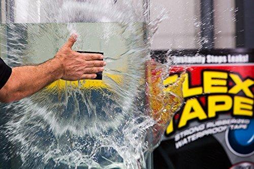 Flex Tape Rubberized Waterproof Tape, 12 inches x 10 feet, Black by Flex Tape (Image #1)