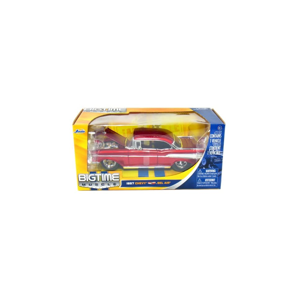1957 Chevy Bel Air Hard Top 124 Scale (Red)