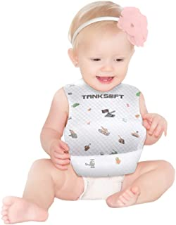Baby Bibs Disposable Tank Print -Disposable baby bibs with pocket design for babies,Independent packing, Easy for taking out,8 bibs per package. (8)