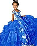Girls Pageant Dresses Applique Ball Gown Tulle Princess Prom Party Dresses08 US Royal Blue