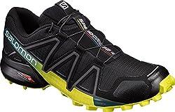 Salomon Men's Speedcross 4 Trail Runner, Blackevergladesulphur, 12 M Us