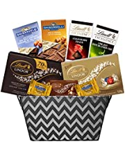 Grand Gourmet Chocolate Gift Basket with Lindt & Ghirardelli Chocolates