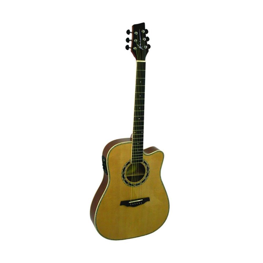 kona guitars ka400n thin body artist series acoustic electric guitar with ebay. Black Bedroom Furniture Sets. Home Design Ideas