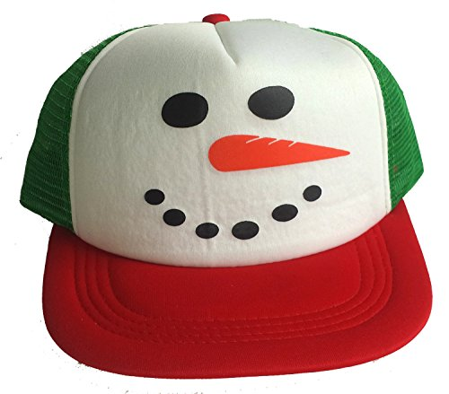 Snowman Mesh Trucker Hat Cap Snapback Ugly Sweater Party Christmas X Mas RWG