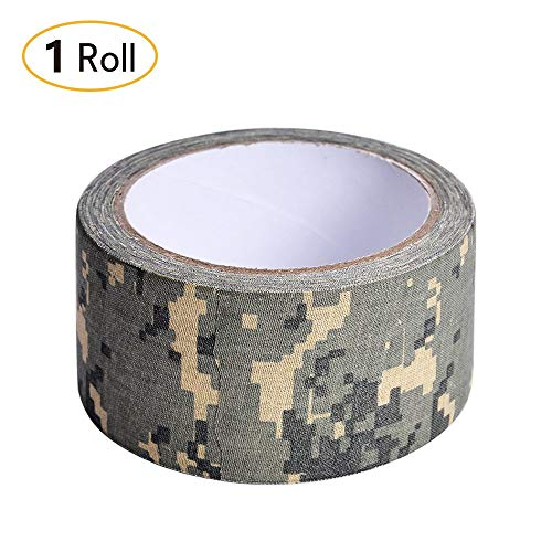 Xhuan 1Roll Camouflage Tape Adhesive Cloth Army Camo Rifle Stealth Wrap Desert 50mm 10.9yd Digital(Digital ) ()