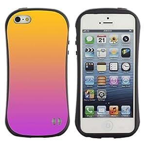 LASTONE PHONE CASE / Suave Silicona Caso Carcasa de Caucho Funda para Apple Iphone 5 / 5S / Gradient Colors Orange Pink Purple