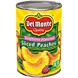 Del Monte Raspberry Flavored Sliced Yellow Cling Peaches in Light Syrup, 15 Ounce