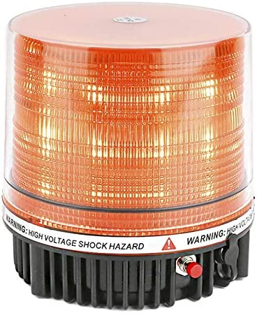 Justech 12//24V 20LEDs Amber Beacon Light Emergency Hazard Warning Strobe Light 10 Flash Modes IP67 Waterproof with Magnetic Base for Truck Car