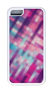 Customized Case patterns abstract pink parallax 111 TPU White for Apple iPhone 5C by icecream design