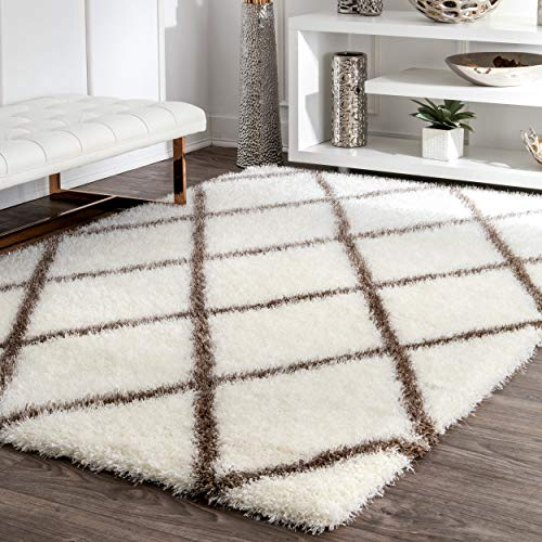 - nuLOOM OZSG09B-53076 Machine Made Diamond Shag Rug, 5' 3