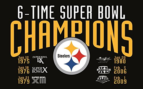 RongJ- store NFC Pittsburgh Steelers Flag Super Bowl 3x5 FT
