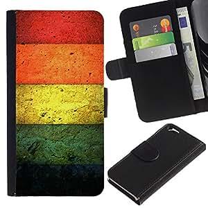 Protector de cuero de la PU de la cubierta del estilo de la carpeta del tirón BY RAYDREAMMM - Apple Iphone 6 - Colores de hormigón