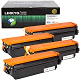 LINKYO Compatible Toner Cartridge Replacement for Canon 046 High Capacity 046H (Black, Cyan, Magenta, Yellow, 4-Pack): more info