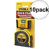 Stabila 11927 Pocket Pro Magnetic Level + BM40 Spikes 27' Tape Measure 10-Pack