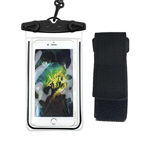Custodia Impermeabile Cellulare Sacchetto, URAQT [2 Pack] Custodia Cellulare Impermeabile Universale Waterproof Cover Case per iPhone 7/ 7 Plus/ SE / 6s / 6s Plus / 6 / 6 Plus, Samsung S7 / S7 edge /