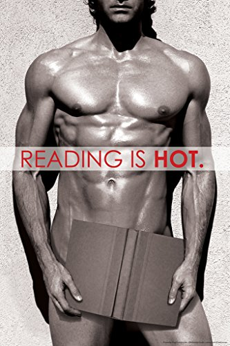 Reading Is Hot Naked Guy With Book Funny Poster