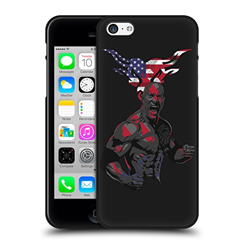 Official WWE American Power The Rock Black Soft Gel Case for Apple iPhone 5 iPhone 5s iPhone SE