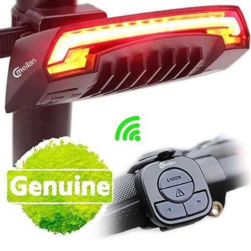 Wildlead Meilan X5 Wireless Luce per bici da bicicletta Telecomando Lampada di coda USB intelligente Ricaricabile Caratteristiche Design leggero aerodinamico; Visuale a distanza;