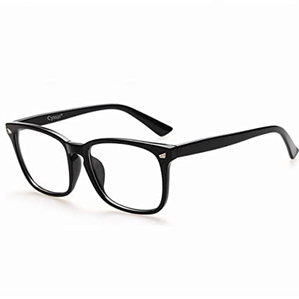 f5cc31cbd1b Buy Cyxus Blue Light Filter Computer Glasses for Blocking UV Headache  Anti  Eye Fatigue  Transparent Lens Black Frame