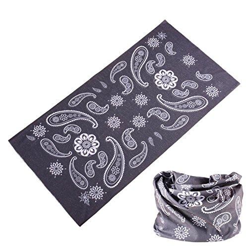 Multifunctional 16-in-1 Yoga Sports Fashion Travel Colors Headband Seamless Neck Uv Buff Solid Moisture Wicking Bandana Turban Scarf (blue grey)