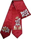 HANBOK DAENGGI RED EMBROIDERY Korean Traditional Hair Accessory daenggi bassi Girls Junior Womans red