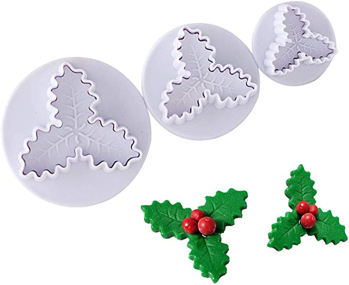 Cookie Cutter Holly Feuilles Plastique 5.5 cm qualité garantie