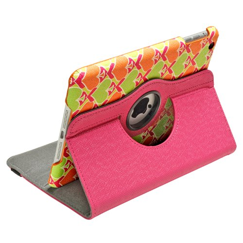 Aduro ROTATA 360 Degrees Rotating Case Cover Folio w/Stand for Apple iPad Mini / 2/3 (Punchy Aces)