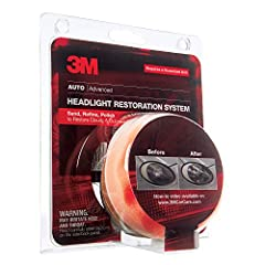 Plastic lenses can yellow with age, reducing headlight brightness, and new lenses can be expensive. The 3M Headlight Lens Restoration System lets you shine and restore plastic lenses, including headlights, taillights, fog and directional ligh...