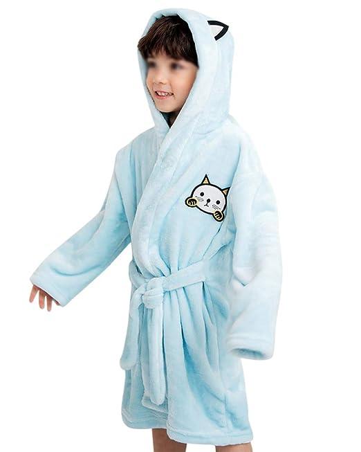 Albornoz con Capucha para Niñas Y Niños Bata Super Suave Pijamas Ropa Housecoat: Amazon.es: Ropa y accesorios