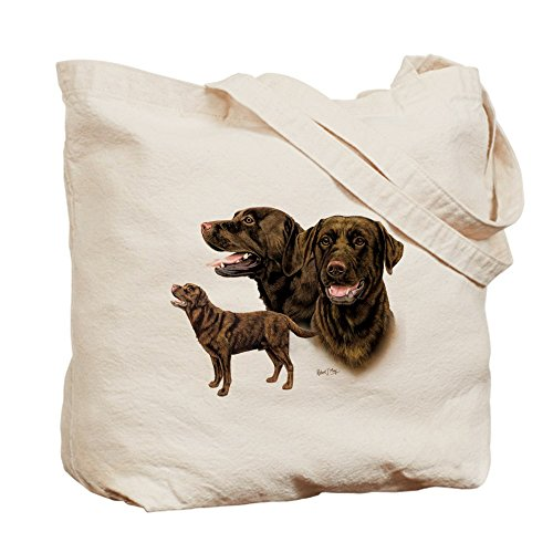 Cafepress – Chocolate Labrador Retriever – Borsa di tela naturale, tessuto in iuta