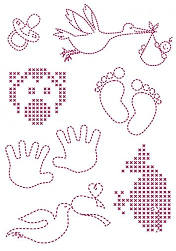DMC Custom By Me Embroidery Transfer Magic Sheet Baby 1 (Embroidery Dmc Transfer)