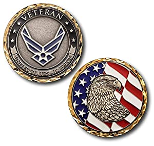 USAF U.S. Air Force Veteran Challenge Coin by Armed Forces Depot