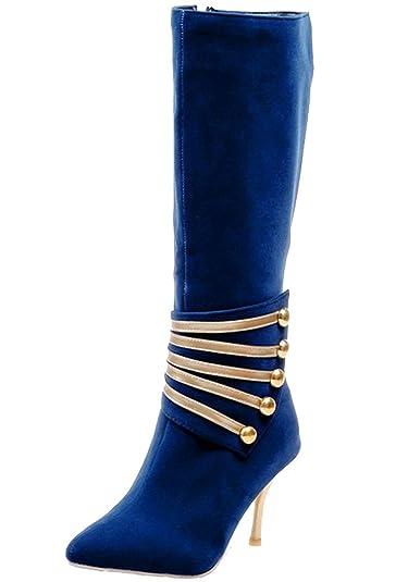 HiTime Damen Hoch, Blau - Blau - Größe: 35.5