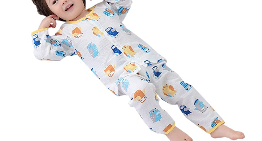 Habigua Little Boys Girls Soft Cute Fruit Pajama Snug Fit Pjs Blue