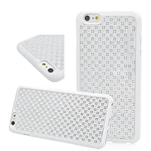 Aprotify White Style Rubberized TPU Gel Case for iPhone 6 Plus (5.5 inch) Flexible Back Cover Skin Soft Protector