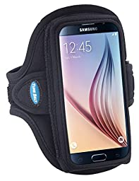 Armband for iPhone 6, 6s, 7 with a slim case; Galaxy S5/S6/S7 with no case; also fits iPhone 5/5s/5c/SE with LifeProof Case – for Men & Women for Running & Workouts [Black]