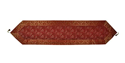 Lal Haveli Silk Table Runner for Dining Table 72 x 16 Inch