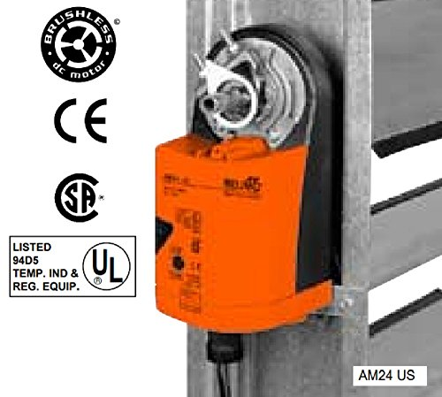 Belimo AM24 US Damper Actuator, On-Off Floating Point Control, Non-Spring Return, Direct Coupled, 24V ()