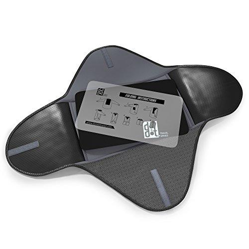 Dot&Dot Packing Folder for Travel - 15 inch Garment Sleeves 2 piece Set Black