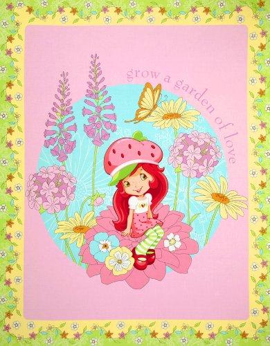 Strawberry Petal (Strawberry Shortcake New Petal Panel Pink Fabric)