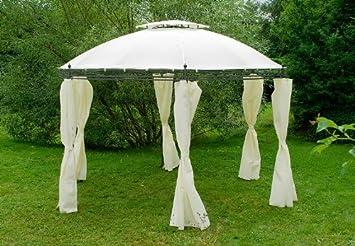 Carpa redonda (Borgoña Pergola pérgolas 3,5 m con cortinas: Amazon.es: Jardín