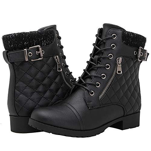 (GLOBALWIN Women's 1835 Black Fashion Boots 8.5M)